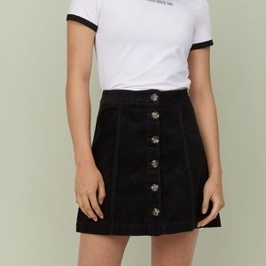 A-Line Corduroy Skirt